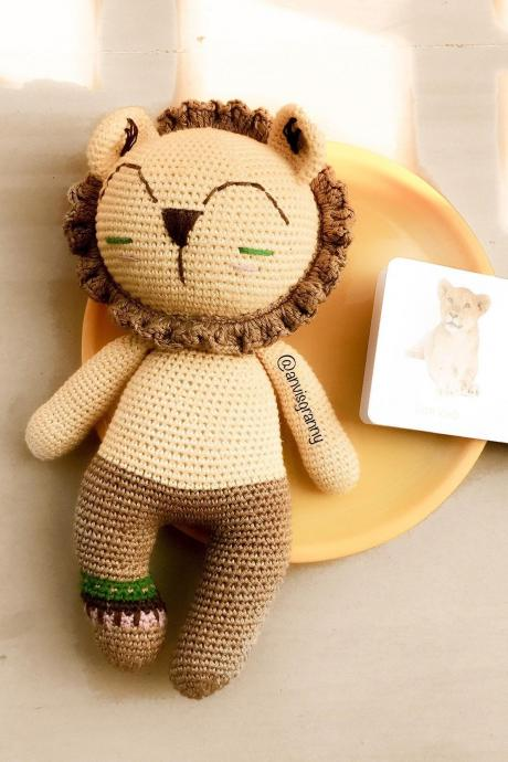 Crochet pattern, Tribal lion amigurumi pattern tutorial, handmade animal pattern (printable PDF English file)